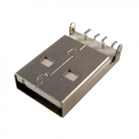 Jual Jack USB Tipe A PCB SMT - Connector, Jack USB tipe A PCB dengan model kaki pin untuk Surface Mounting PCB.