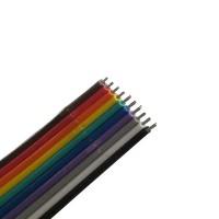 Flat Rainbow Ribbon Cable 10P (per meter)
