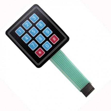 Keypad Membran Matriks 3x4 /w strobe - Digiware Store