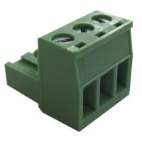 Terminal block pluggable 3 pin Female p5.08mm