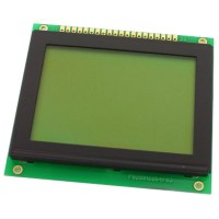 Graphic LCD 128x64, STN, Yellow Green Background, Yellow-Green Backlight, 78.0 x 70.0 x 13.0