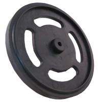 Plastic Wheel for Gear Motor Black