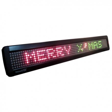 LED Message Display 66x9,8cm , single line, 7x80 dots, Tricolor