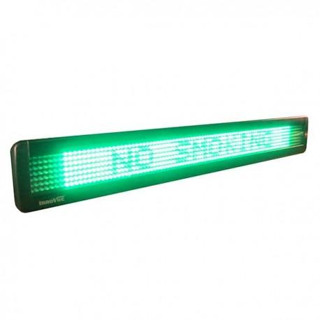 LED Message Display w/ 95 Pixels Width, 83,5x9,8x3,5cm, single line, 7x95 dots, Green
