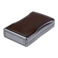 VM-24 Black Textured 117.60 x 72.14 x 25.40 mm with 9V Battery compartment