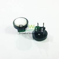 Tactile Switch Round 12mm 4 pin White Color