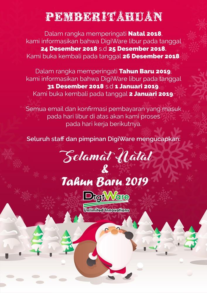 DigiWare Libur Natal 2018
