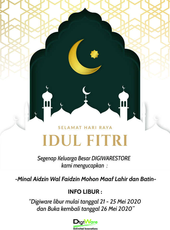 Selamat Hari Raya Idul Fitri 1 Syawal 1441H Mohon Maaf Lahir dan Batin