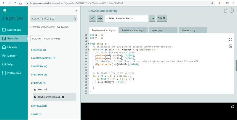 Tampilan Arduino Web Editor