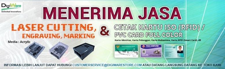 Jasa Laser Cutting, Engraving, Marking dan Jasa cetak kartu ISO pvc card full color