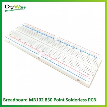 Breadboard MB102 830 Point Solderless PCB