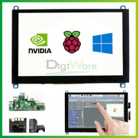 5 Inch HDMI LCD (H) Capacitive Touch Screen 800x480 Support Various
