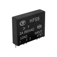Solid State Relay HFS5/24D1T 19,2-28,8VDC , 75-280VAC 2A