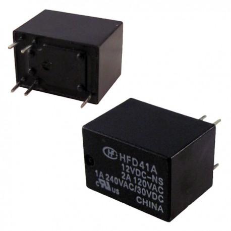 Relay SPDT Hongfa 12VDC 1A 240VAC HFD41A/12VDC-NS