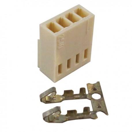 Konektor putih 4 pin female + pin