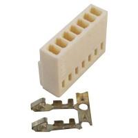 Konektor putih 7 pin female + pin