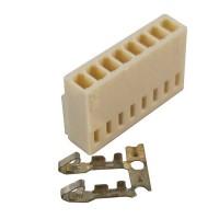 Konektor putih 8 pin female + pin