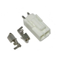 Konektor putih besar 2 pin lengkap /w clip