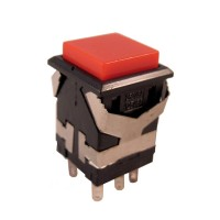 Pushbutton Switch DKD2-324 Red Push On