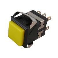 Pushbutton Switch DKD2-324 Yellow Push On