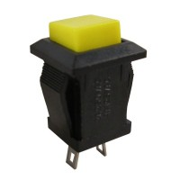 Pushbutton Switch DDS-2430 Yellow Push On