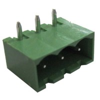 Terminal block pluggable 3 pin Male p5.08mm