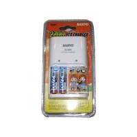 Eco Charger Kit 2700 (inc 2pcs Ni-MH 2700 mAh AA size) Sanyo