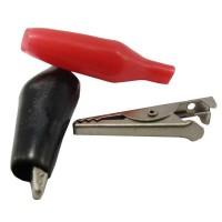 Alligator clip kecil (merah & hitam)