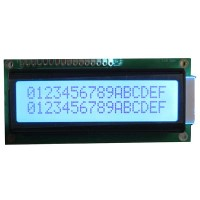 Character LCD 16x2, STN, Gray Background, White Backlight