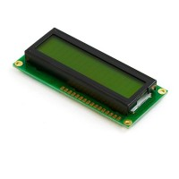 Character LCD 16x2, STN, Yellow Green Background, Yellow Green Backlight, 3V