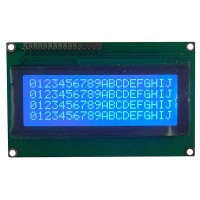 Character LCD 20x4, STN, Negative, Blue Background, White Backlight, 98.0 x 60.0 x 9.1 mm