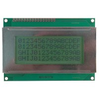 Character LCD 16x4, STN, Gray Background, Green Backlight, 87.0 x 60.0 x 13.0 mm