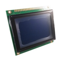 Graphic LCD 128x64, STN, Negative, Blue Background, White backlight, 93.0 x 70.0 x 13.8