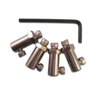 Nickel plated brass fittings to fit wheels on 4mm shaft. (4 pcs)