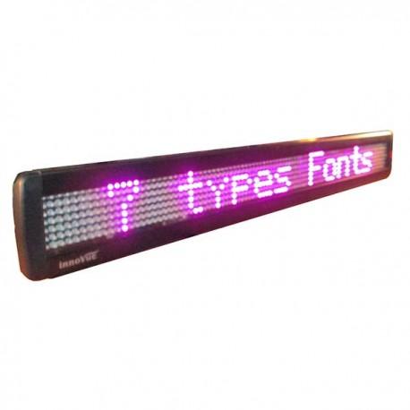 LED Message Display w/ 95 Pixels Width, 83,5x9,8x3,5cm, single line, 7x95 dots, Pink