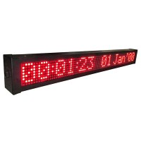 Moving Sign 72x6cm, 16 char, warna merah, PC & Keyboard