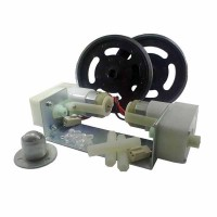 Motor DC Gearbox Plastic Right Angle Wheel Set DT-ROBOT