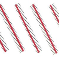 40 Pin Headers - Straight (Red)