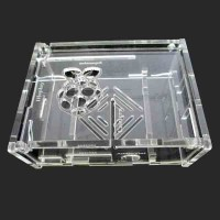 Raspberry Pi Type B+ / Raspberry Pi 2 Case, Acrylic Clear 3mm IC08