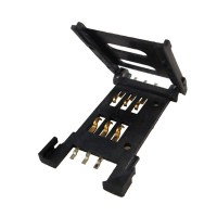 SIM Card Connector w/o switch (Flip type, 6 contact, SMT)