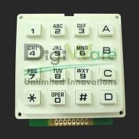 Keypad Matriks 4x4 Rubber Karet Timbul - Putih