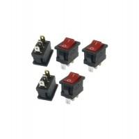 Rocker Switch w/ Lamp Red 3pin (6A/250VAC)