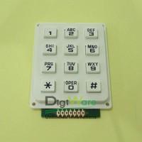 Keypad Matriks 3x4 Rubber Karet Timbul - Putih