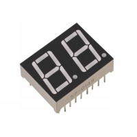 """E20501-J- UDR -0-W 7 Segment 2 digit 0.5"""" Red Super Bright Com Cathoda tipe J"""
