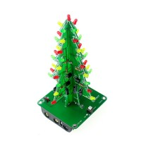 Christmas Tree LED Flash Kit 3D DIY Electronic Learning Kit