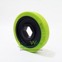 "BaneBots Wheel, 1-7/8"" x 0.4"", 1/2"" Hex Mount, 30A, Black/Green T40P-193BG-HS4"