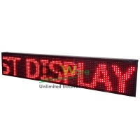 Led Message Display Semioutdoor, 99x19x5cm, 16x96 pixel, Red