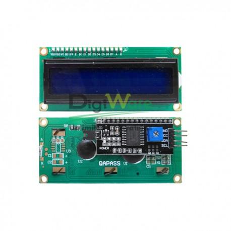 LCD 16x2 Blue SPI I2C Module