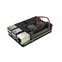 Aluminium Alloy Case for Raspberry Pi 4, Dual Cooling Fans