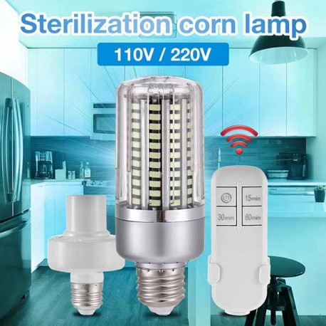 Lampu LED UVC Ozone 40W E27 Germicidal with Timing Remote